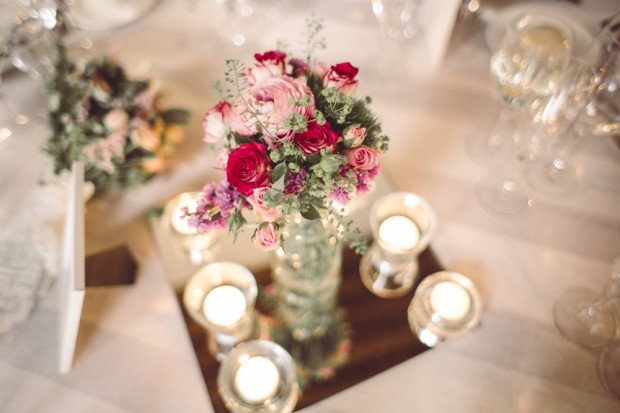 centro de flores boda lartelier laurel catering