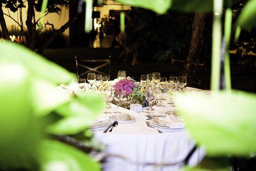 Mesa boda de noche