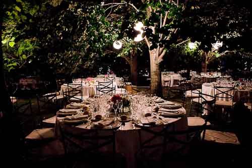 Bodas en jardin de noche catering bodas for Bodas de noche en jardin