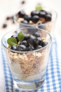 desayuno ligero para empresa de yogurt con muesli