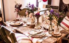 mesa boda vintage