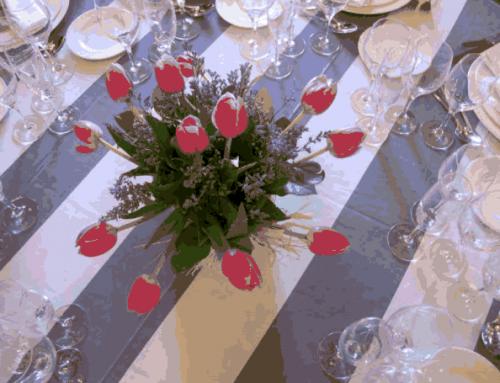 Centros de mesa para boda minimalista