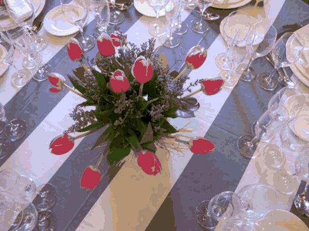 decoracion mesas boda tulipas