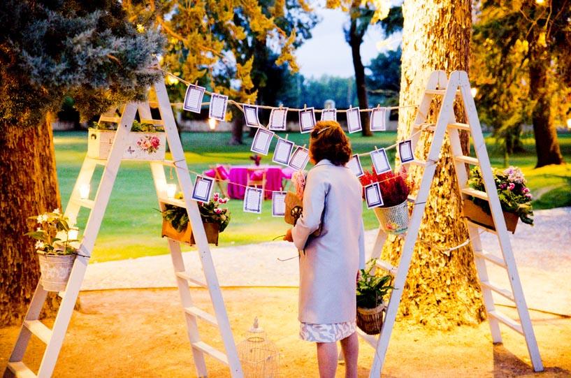 La decoración de una boda al aire libre