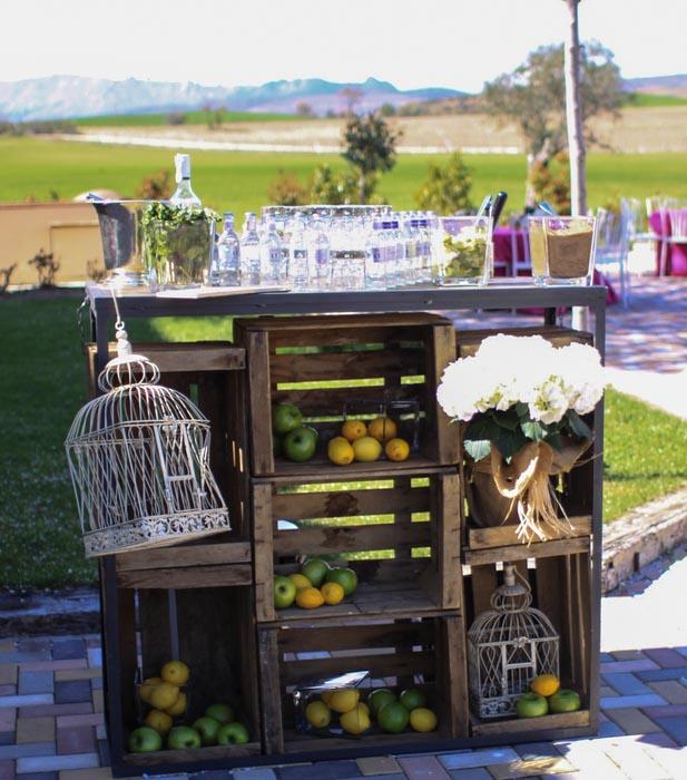 Comida y bebida al aire libre bodas