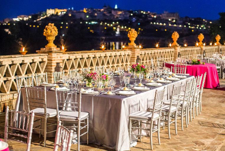 Decoración de mesas una boda al aire libre