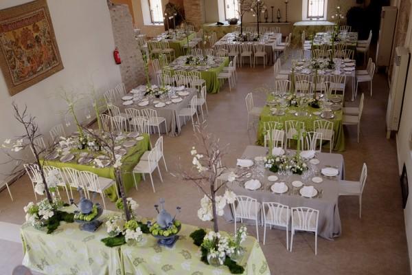 mesas boda casa de oficios