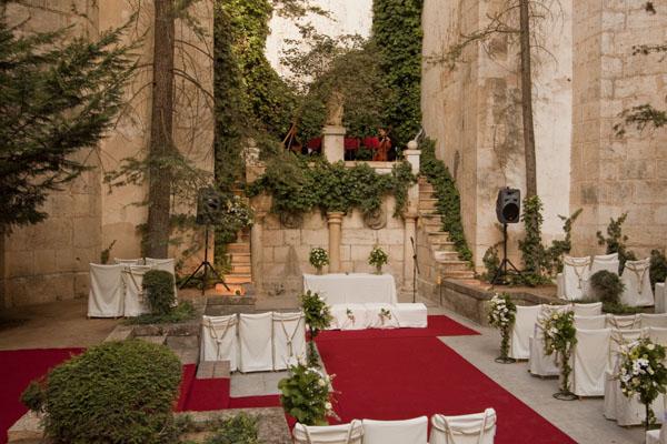 moqueta para ceremonia boda
