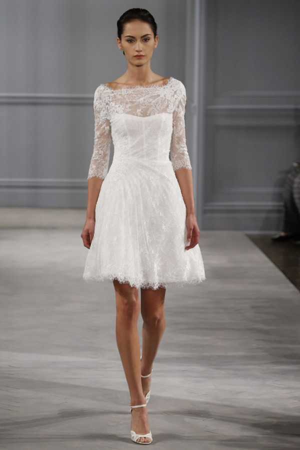 3 vestidos de novia para boda civil según tu silueta