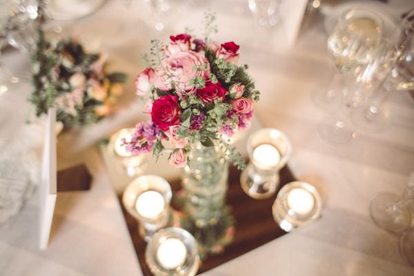 centro de flores boda