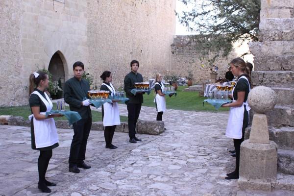 recepción camareros laurel catering
