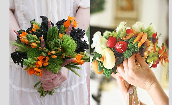 ramo de novia hortalizas