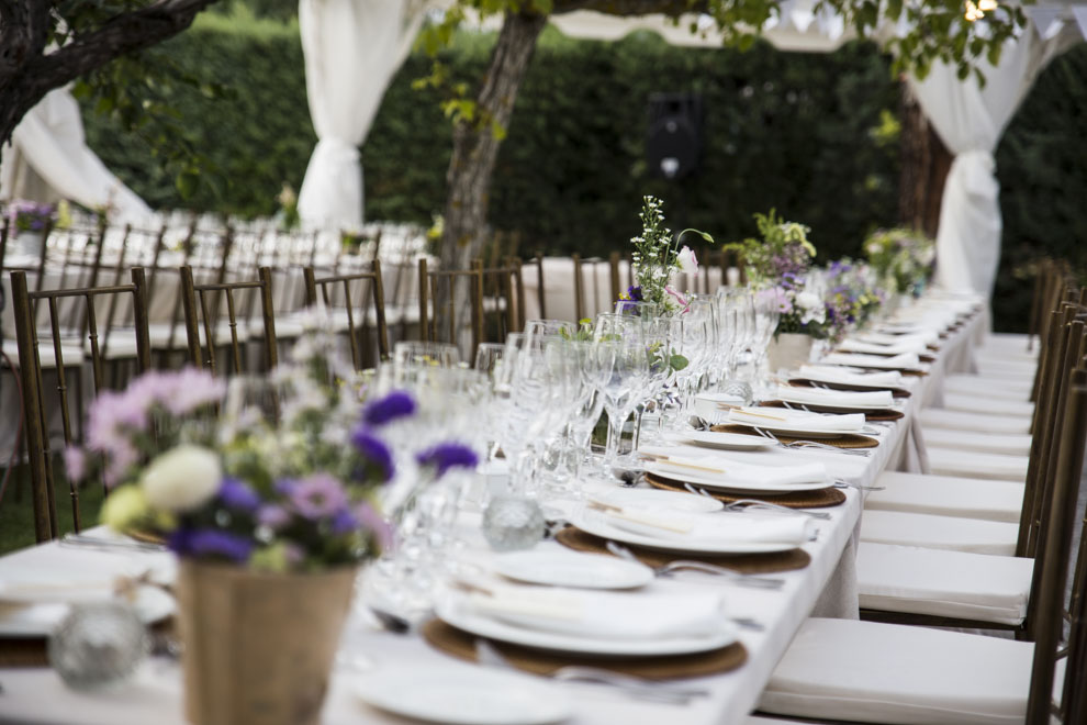 Cómo sentar a los invitados a una boda: ideas