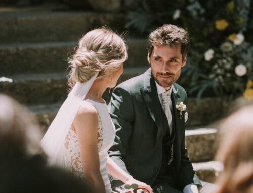 La boda de María y Juan en El Gasco