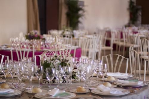montaje mesas boda coco