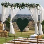 Ceremonia al aire libre: 4 opciones de decoración
