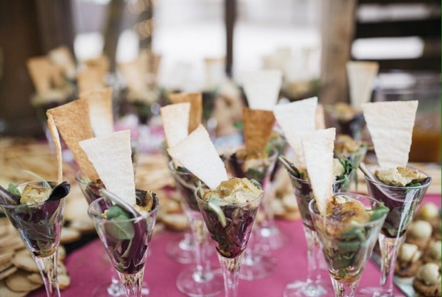 copita de milhojas de foie laurel catering