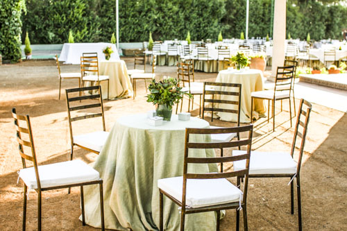 mesas cocktail boda laurel