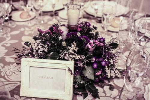 Centro de mesa boda laurel de elena y lola