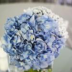 Cómo llevar un ramo de novia azul