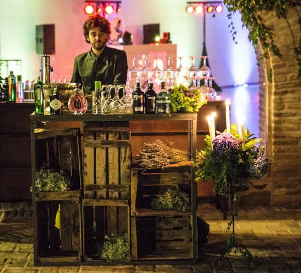 laurel catering barra ginebras premium