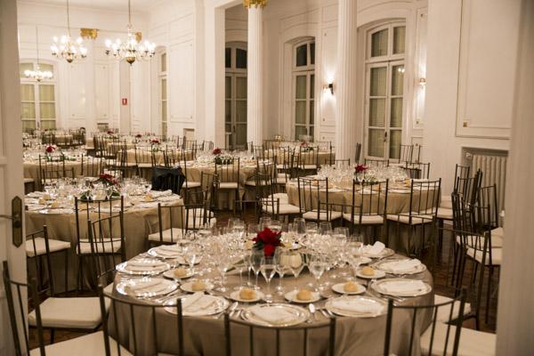 mesas fiesta navidad laurel catering