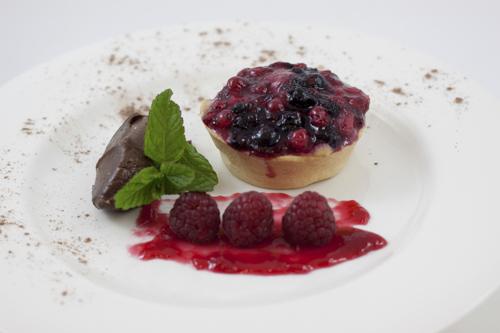tarta de frutos rojos laurel catering