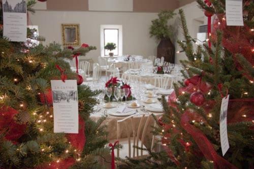 montaje mesas de navidad