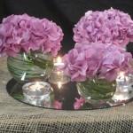 Decoración con velas para una boda