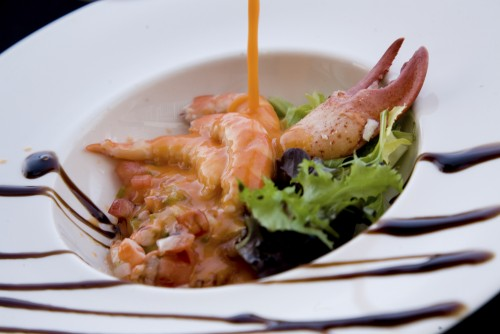 gazpacho con bogavante