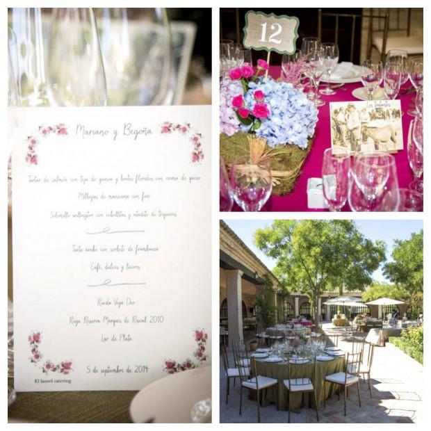 mesas boda laurel catering