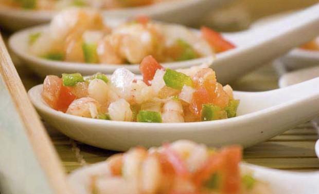 cucharita de salpicón laurel catering